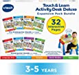 VTech Touch and Learn Activity Desk Deluxe 4-in-1 Preschool Bundle Expansion Pack II for Age 3-5, White