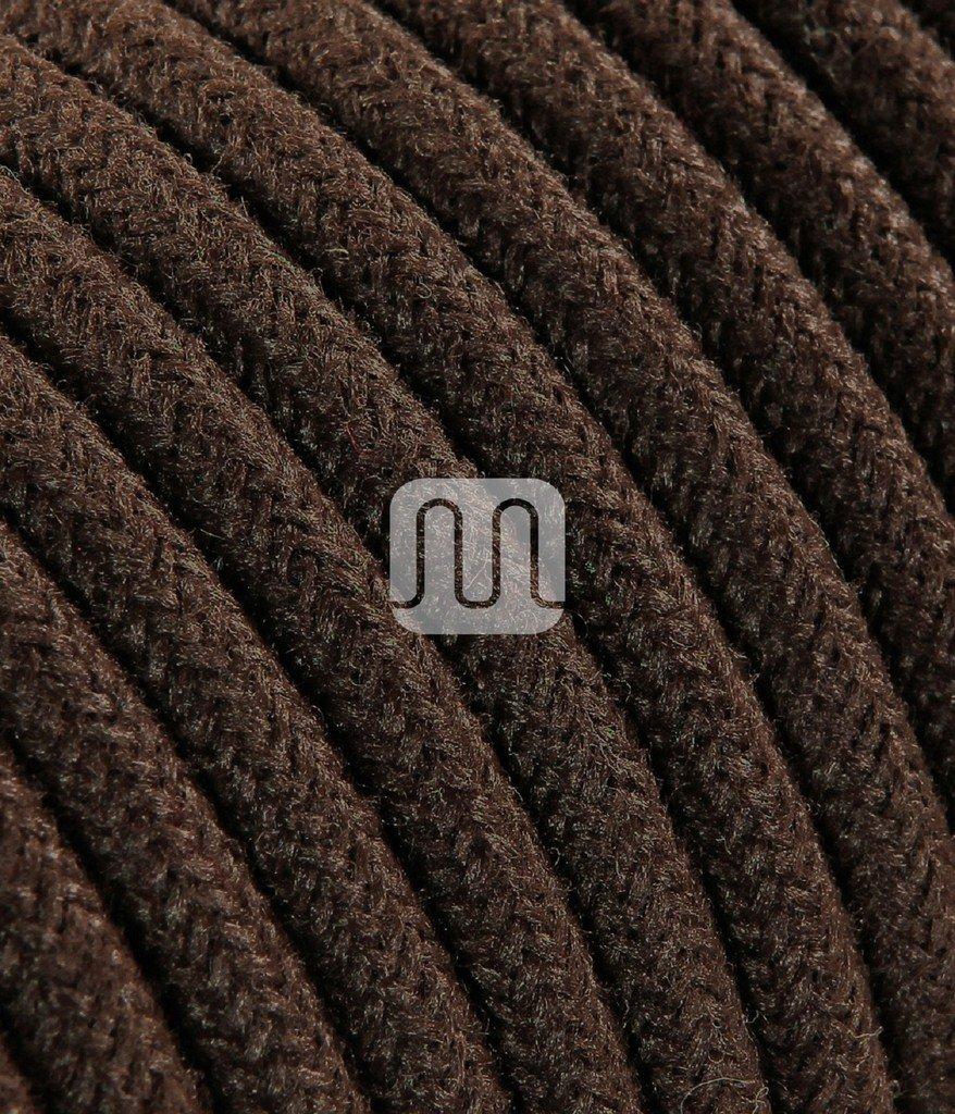 dise/ño abat Jour l/ámparas Made in Italy. Cable el/éctrico redondo redondo revestido de tela multicolor m/ás bruto Marr/ón 2/X 0,75/para l/ámparas