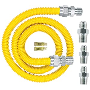 Dormont 0240892 Gas ApplianceConnectorKit 48 In. Long 5/8 In. Outlet Diameter Yellow Coated