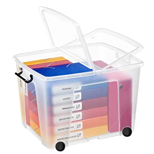 Plastic Storage Boxes With Wheels Amazon Co Uk