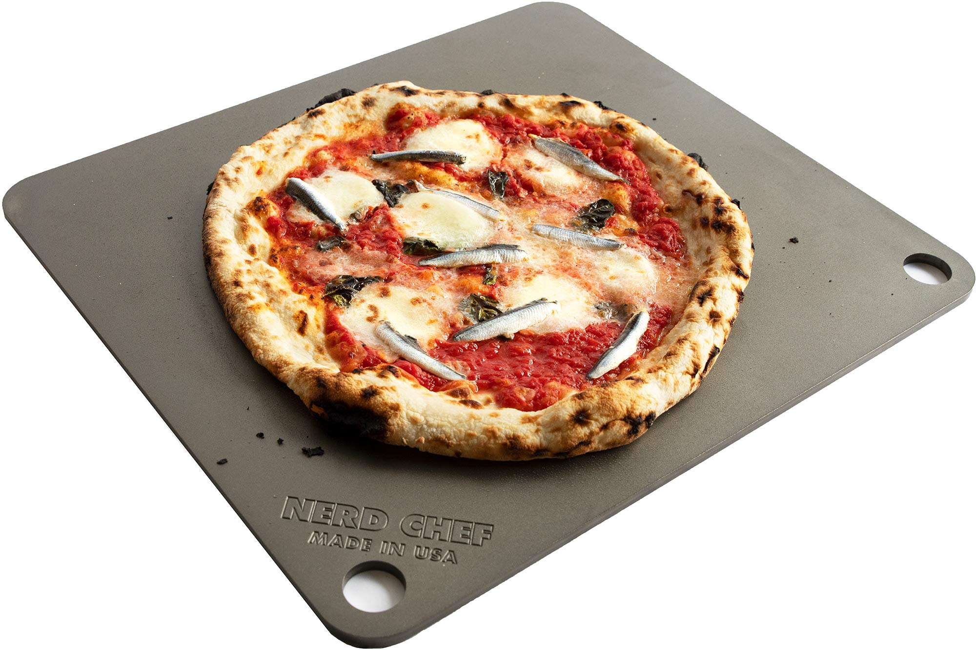 NerdChef Steel Stone - High-Performance Baking Surface for Pizza (14.5''x16'' x1/4'') - (.25'' Thick - Standard)  by NerdChef