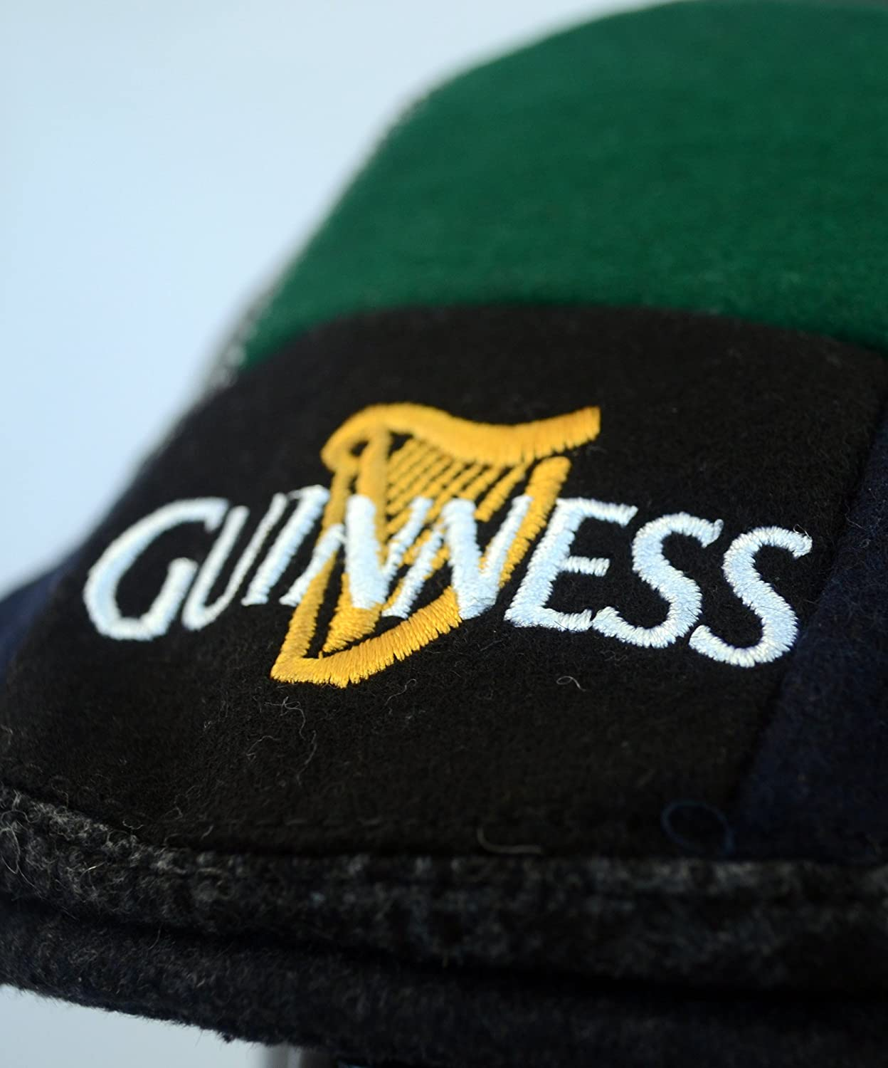 Guinness Official Merchandise Cappello da uomo Harp Embroidered Flat Cap