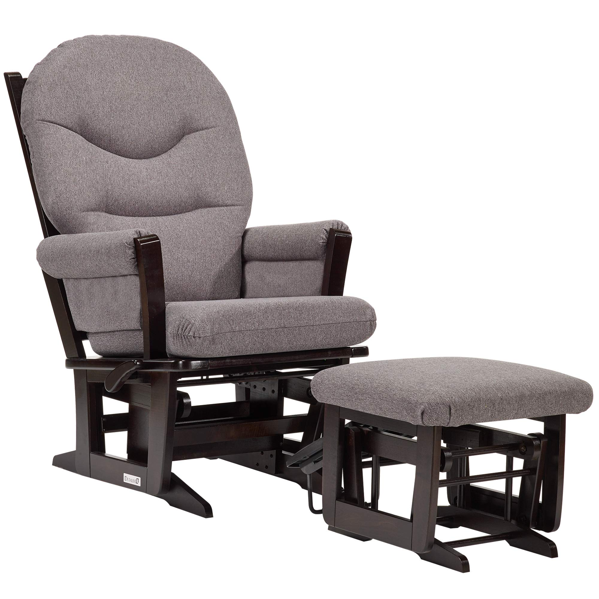 Dutailier Modern 0408 Glider Multiposition-Lock Recline with Nursing Ottoman Included by Dutailier
