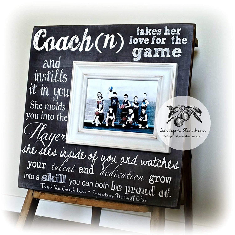 Amazon Com Personalized Coach Thank You Gift Coach Gift Ideas Basketball Dance Team Soccer Football Gymnastics Baseball End Of Season 16x16 Handmade