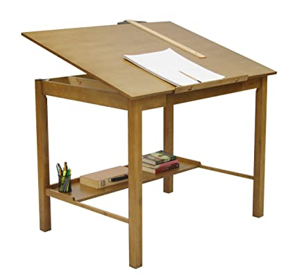 STUDIO DESIGNS Americana II Drafting Table 36in X 48in Light Oak 13253