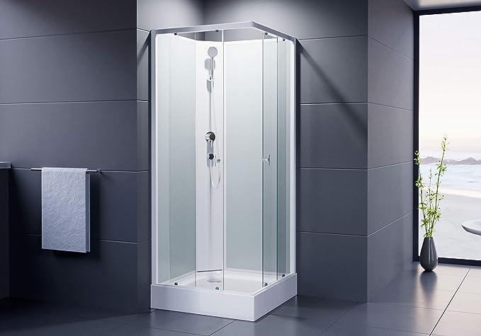 Dusar Completo ducha montado ducha Astoria 80 cm, 195 cm Alto ducha cabina ducha de esquina básico con cuatro paredes completamente cerrado Completo ducha: Amazon.es: Bricolaje y herramientas
