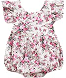 Seven Young Newborn Baby Girls Floral Print Backless Romper Infant Kids Jumpsuit Outfit Playsuit Clothes