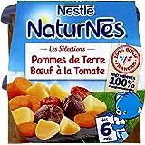Nestlé Bébé Naturnes Les Sélections Pommes de Terre Bœuf à la Tomate - Plat Complet dès 6 Mois - 2 x 200g - Lot de 6