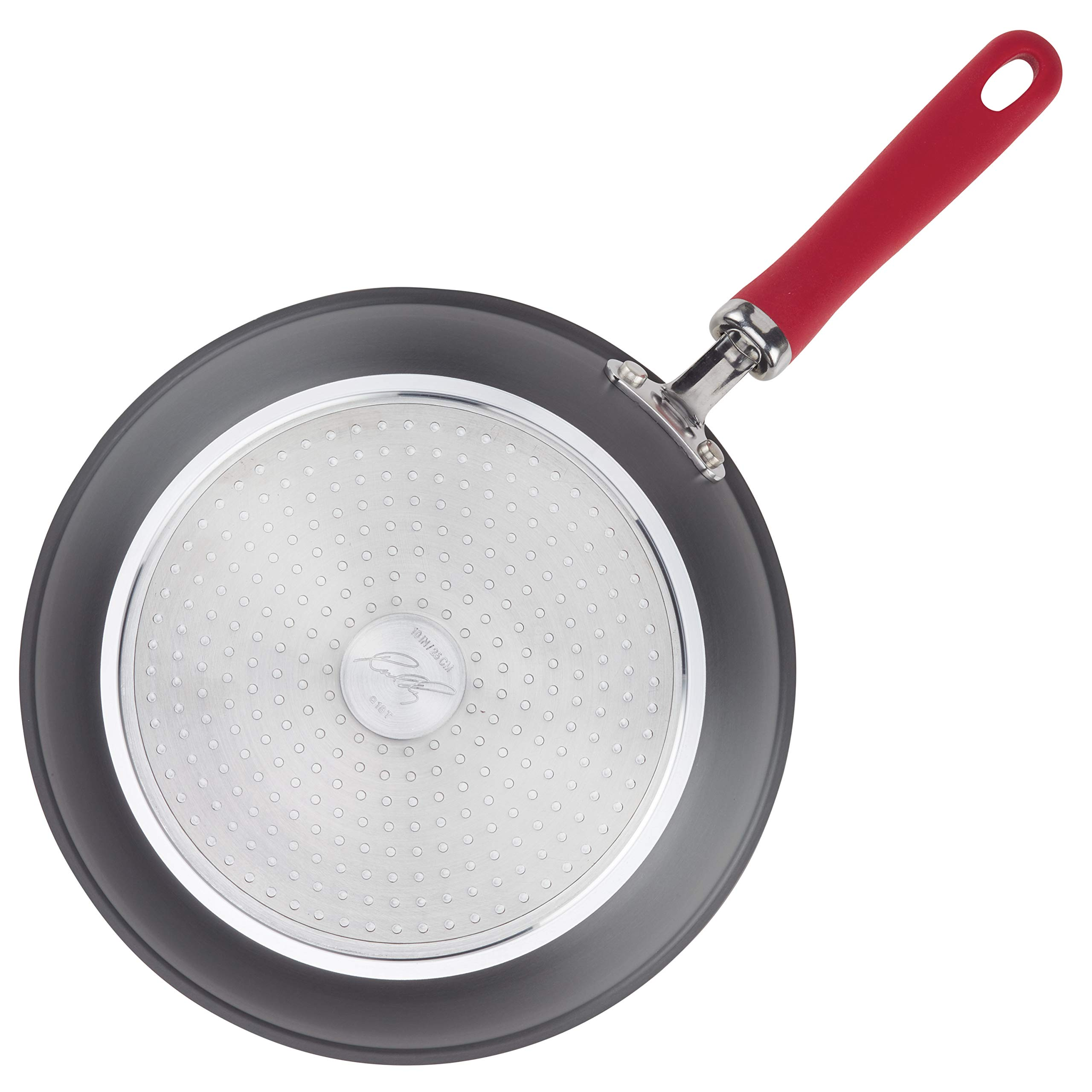 Rachael Ray Create Delicious Hard-Anodized Aluminum Nonstick Deep Skillet Twin Pack, 9.5-Inch and 11.75-Inch, Red Handles by Rachael Ray (Image #6)