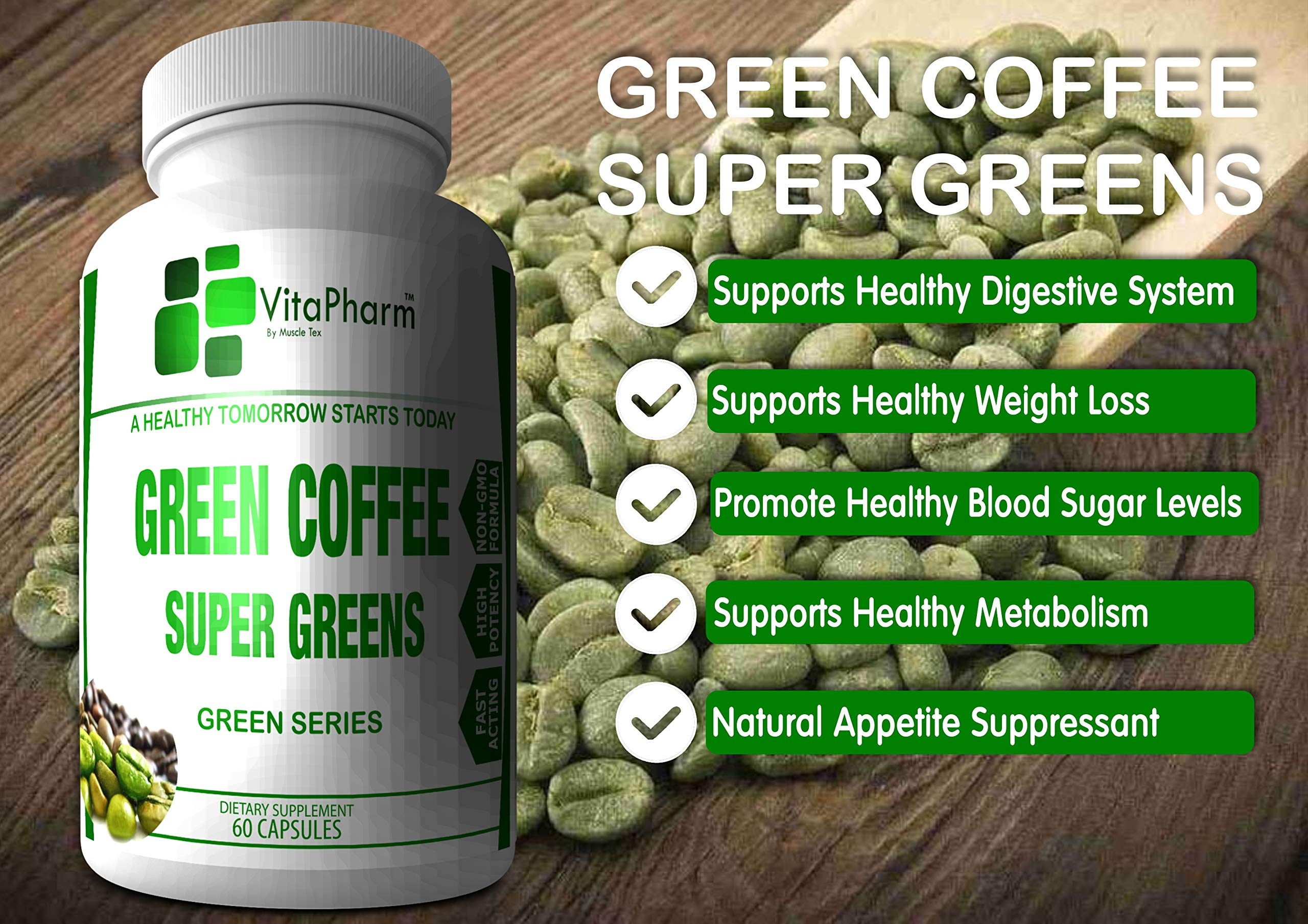 Green Coffee Bean Super Greens Extract By Vitapharm Nutrition