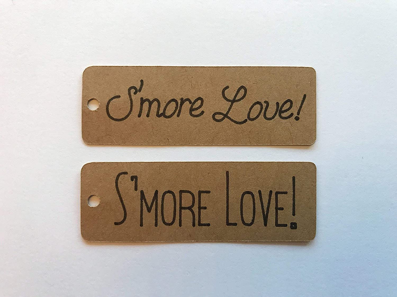 SMore Love Decor Smore Love Favors Wedding Favor Tags Mini Tags Mini SMore Love Tags 25 Tags Winter Wedding Decor Fall Wedding Decor