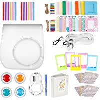 Neewer White 10-in-1 Accessories Kit for Fujifilm Instax Mini 9 8+ 8/8s: Camera Case/Album/ Selfie Lens/ 4xColored Filter/ 5xTable Frame/ 20xWall Hanging Frame/ 40xBorder Sticker/ 2xCorner Sticker