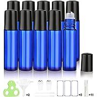 Botellas Roll On para Aceites Esenciales, 10ml (Azul