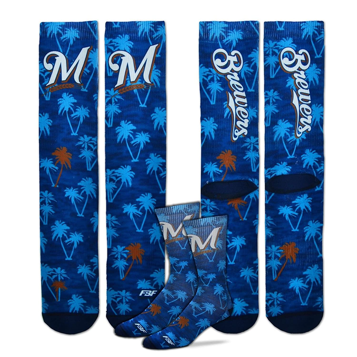 For Bare Feet Milwaukee Brewers All-Over Print Baby Socks