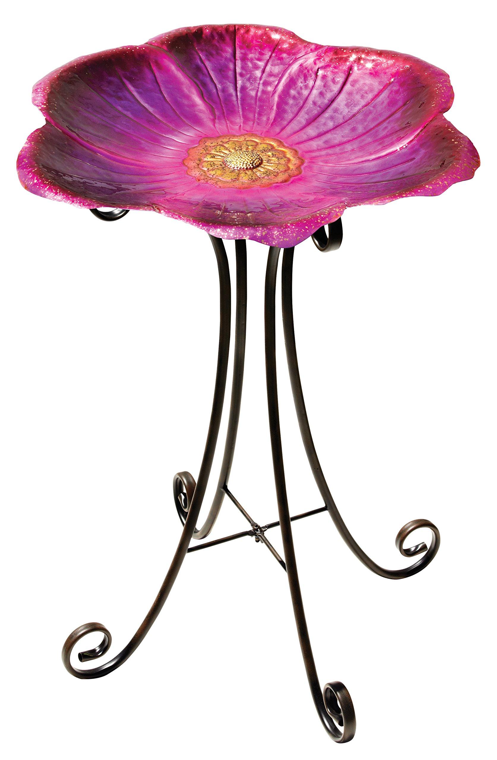Regal Art & Gift 10268 Birdbath with Stand, Flower