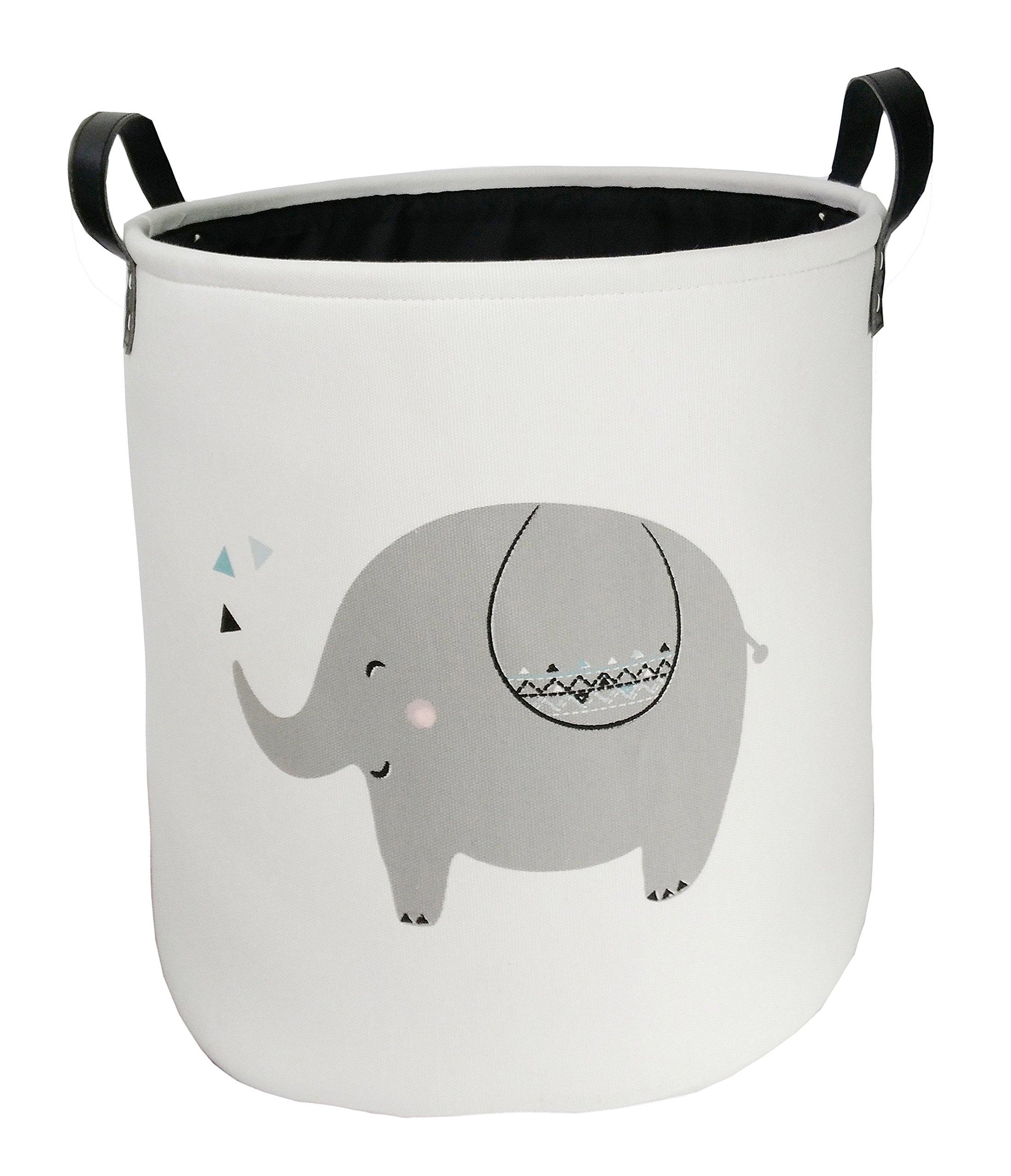 Storage Bins Toy Box Collapsible Nursery Hamper for Laundry,Toy Organizer, Kids Hamper,Baby Room Decor(Elephant)