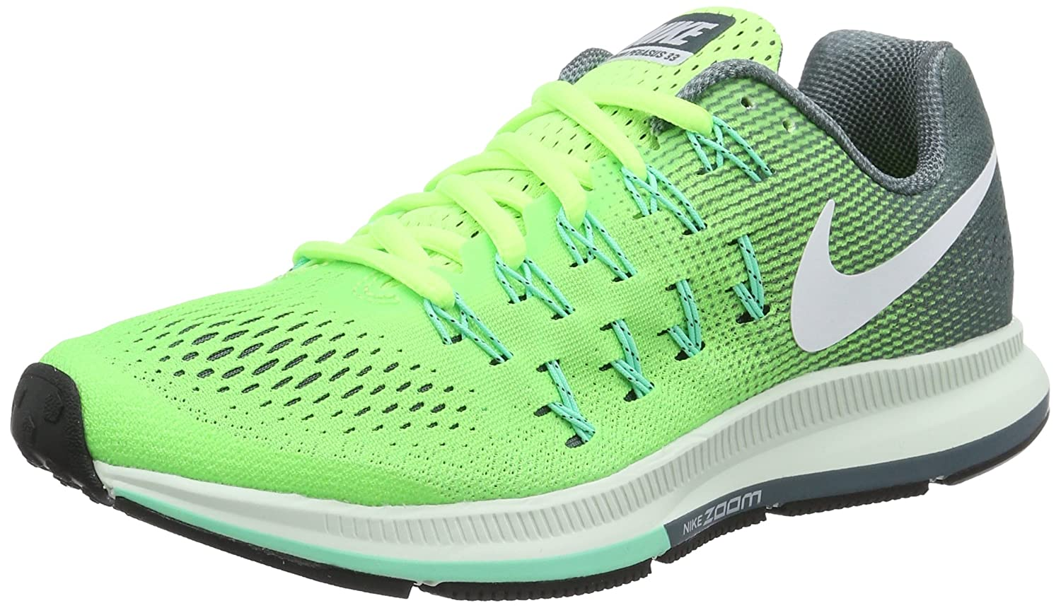 NIKE Women's Air Zoom Pegasus 33 B01CIYT33K 11 B(M) US|Ghost Green/White/Hasta/Green Glow