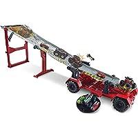 Hot Wheels Monster Trucks Carreras con cuesta abajo, pistas de coches de juguetes, edad recomendada: 4 años y más…