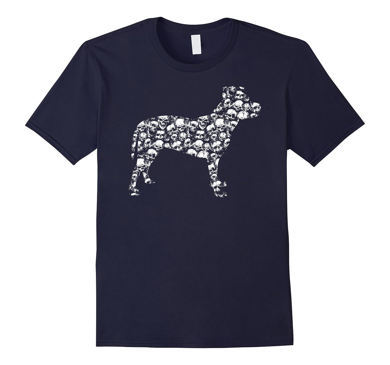 AMERICAN PIT BULL TERRIER Bones Skull Skeleton T-shirt-Art