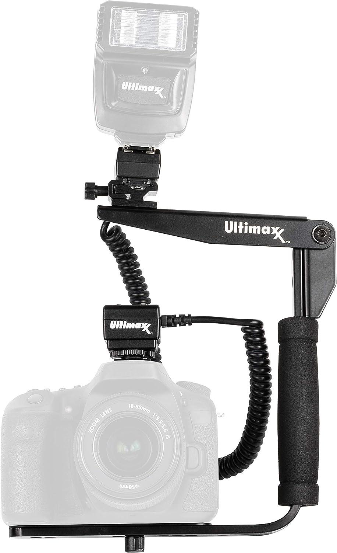 D600 D810 D3300 D610 D3100 D5500 Extended Durable TTL Off-Camera Flash Shoe Cord for Nikon D7500 D750 D5100 D3400 Ultimaxx/'s 180 Degree Rotating Flash Bracket with 6 ft D800 D850 D5200