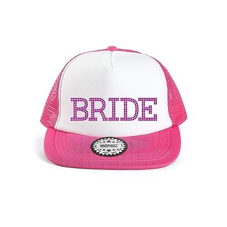 Pink Varsany® Bride Baseball Hat Crystal Bridal Wedding Party Trucker Cap  bridal shower games invites invitations gifts decorations decor robe  favours ... 672bf30de325