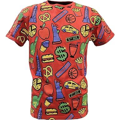 SOULSTAR Soul Star Rundhalsausschnitt MT Kombination American Dream Dollar  Taxi Burger Pizza Statue Print T-Shirt: Amazon.de: Bekleidung