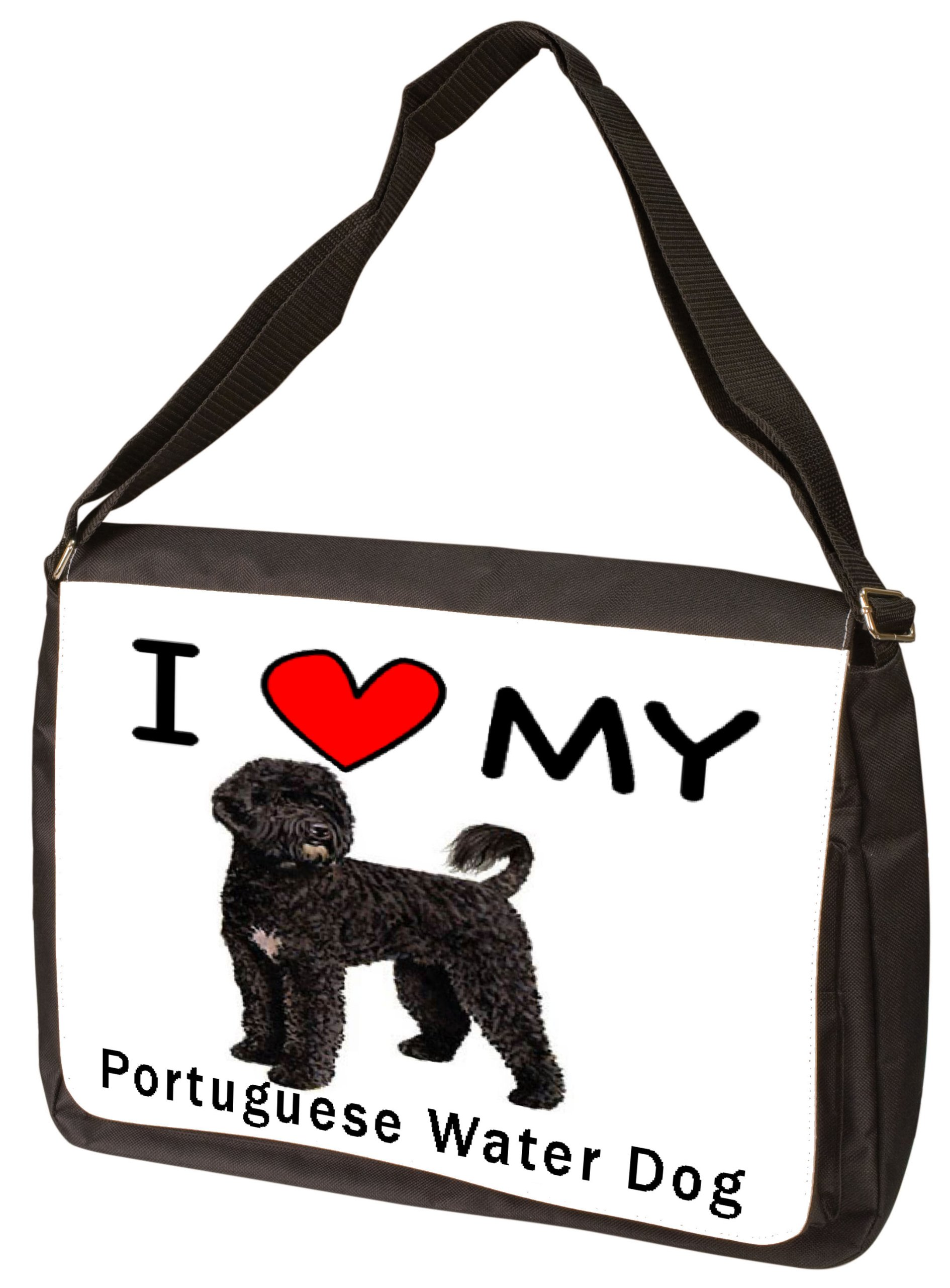 I Love My Portuguese Water Dog Laptop Bag - Shoulder Bag - Messenger Bag