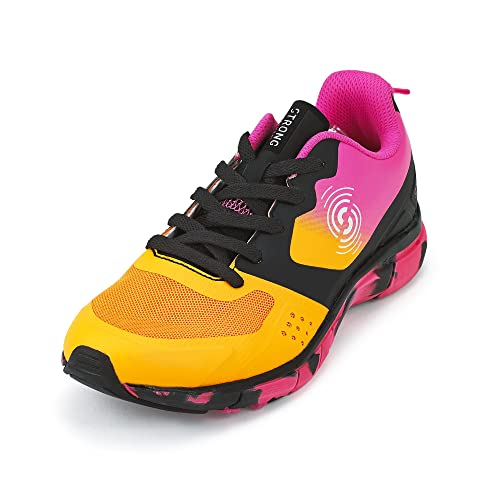 Zumba Footwear Fly Fit Womens Compression Workout Shoes, Zapatillas de Deporte para Mujer, Naranja