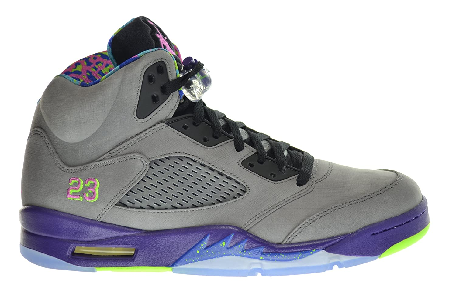 buy popular a774f d4c5a Jordan Air 5 Retro Bel Air Fresh Prince Men's Shoes Cool Grey/Club  Pink-Court Purple-Game Royal 621958-090 (Size 10.5)