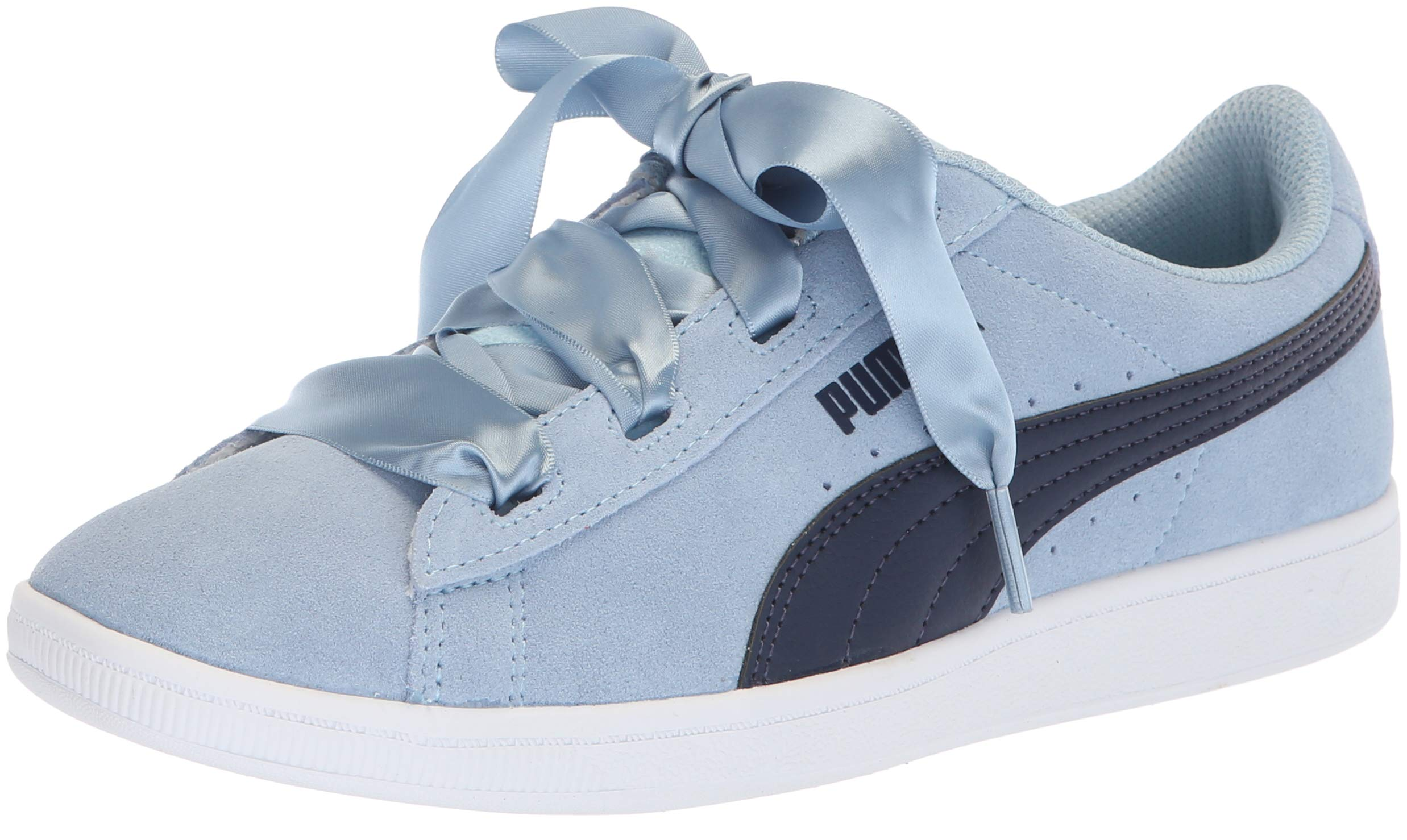 PUMA Unisex-Kids Vikky Ribbon Jr Sneaker, Cerulean-Peacoat, 5.5 M US Big Kid