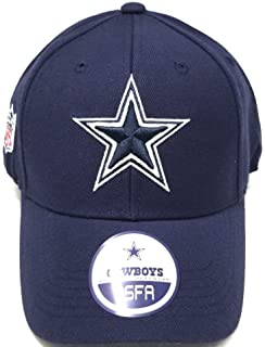 brand new 9240b 70827 Dallas Cowboys Wool Basic Logo Velcro Adjustable Hat Navy