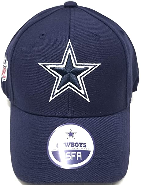 644706eeae9 Image Unavailable. Image not available for. Color  Dallas Cowboys Wool  Basic Logo Velcro Adjustable Hat Navy