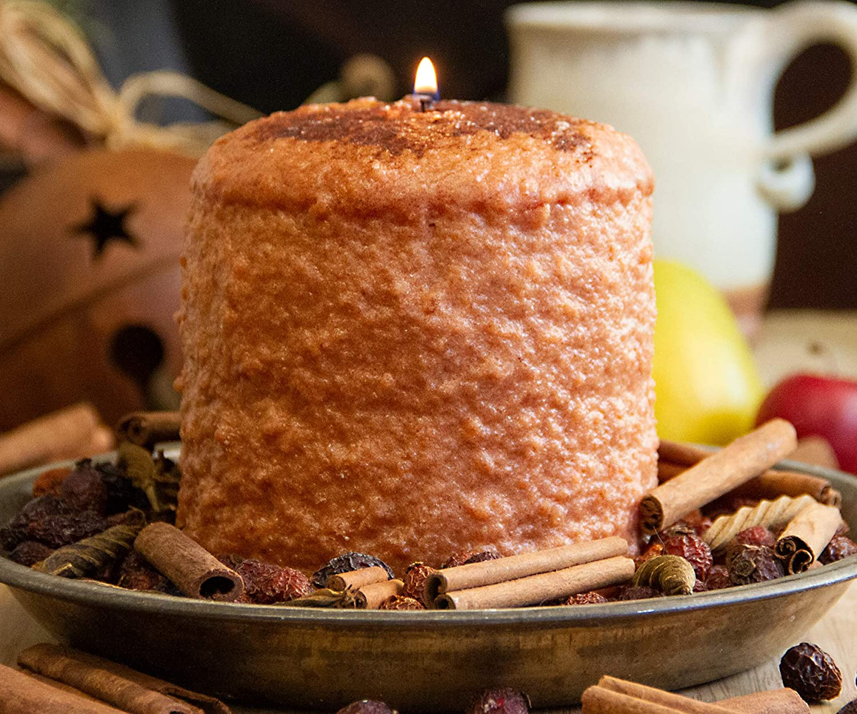 Warm Glow Candle Company Cinnamon Bun Hearth Pillar Candle