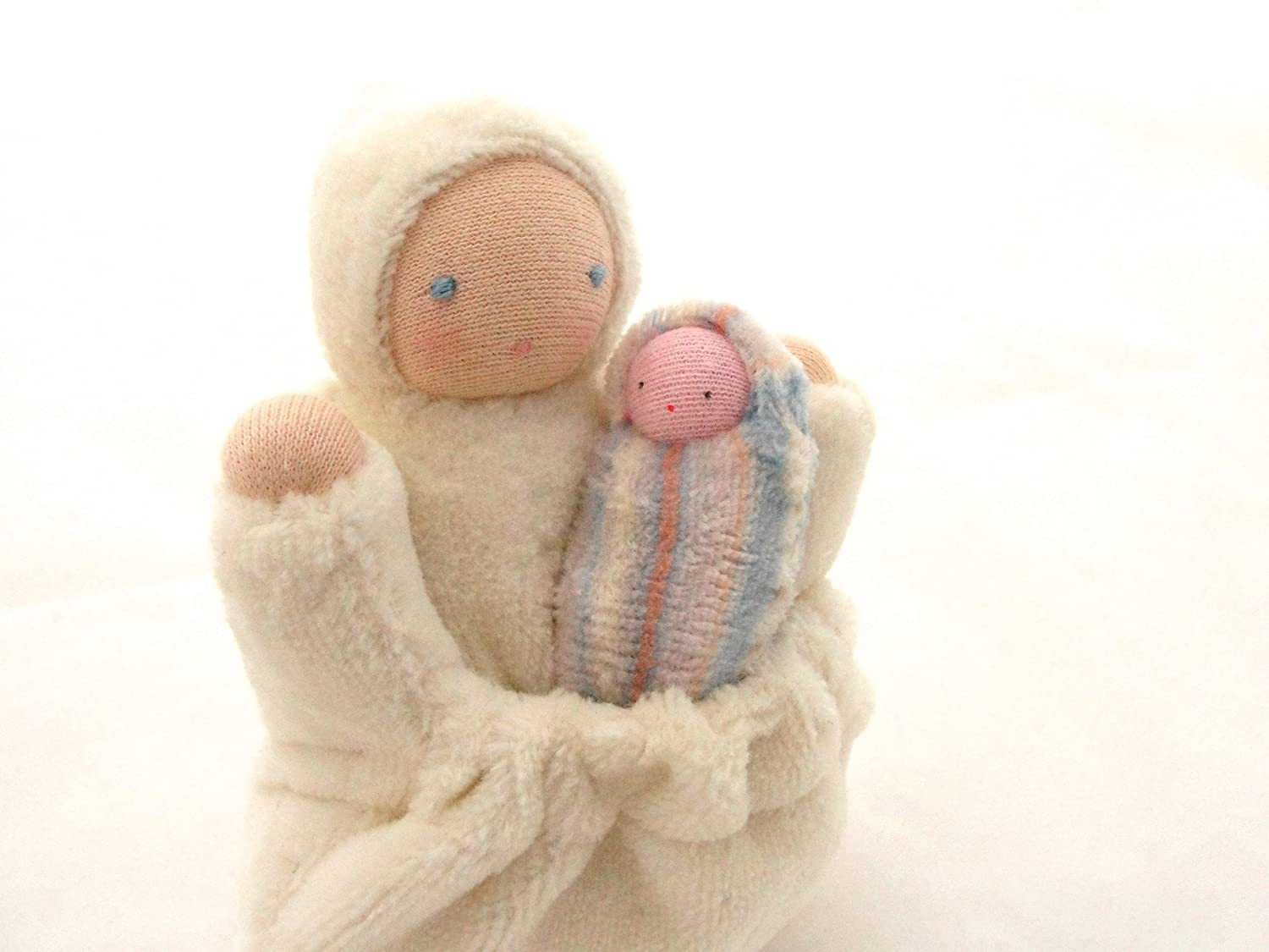 White Pocket Mama Waldorf Doll
