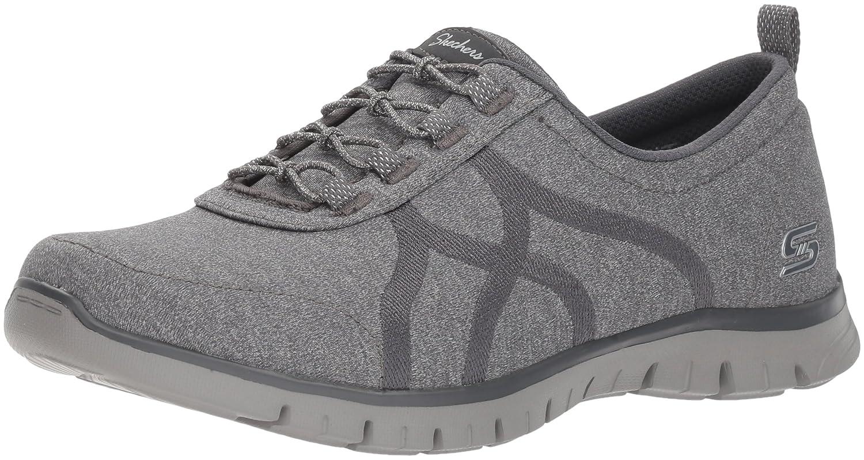 Skechers Women's Ez Flex Renew-Bright Days Sneaker B07B2M775X 7 B(M) US|Charcoal