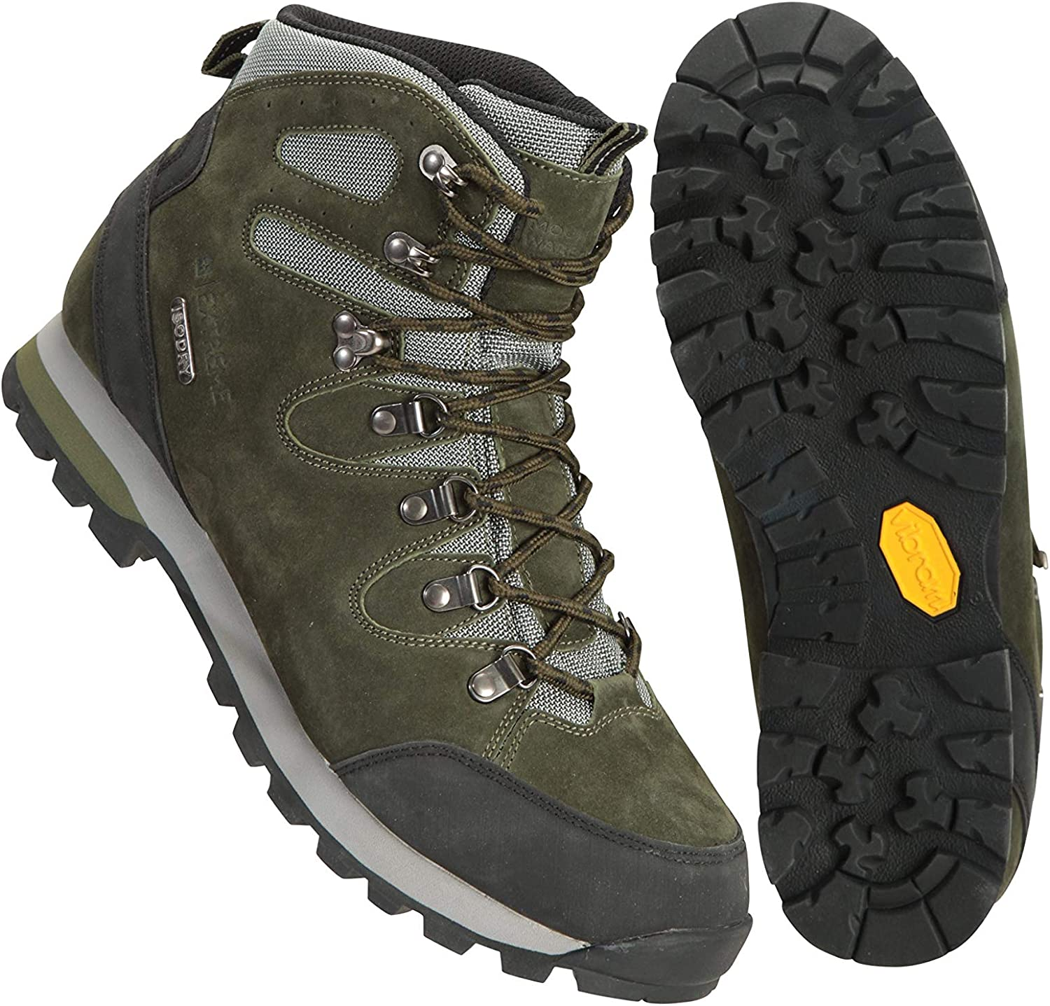 Camping EVA Footbed Footwear for Hiking Suede Mesh Upper Walking Shoes Grippy Outsole Mountain Warehouse Highline II Mens Shoes