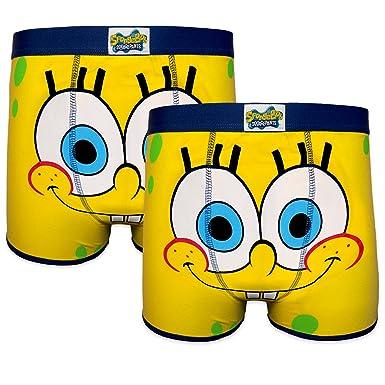 d397b6237b SpongeBob Squarepants Official Gift 2 Pack Mens Trunks Boxer Shorts: Amazon. co.uk: Clothing