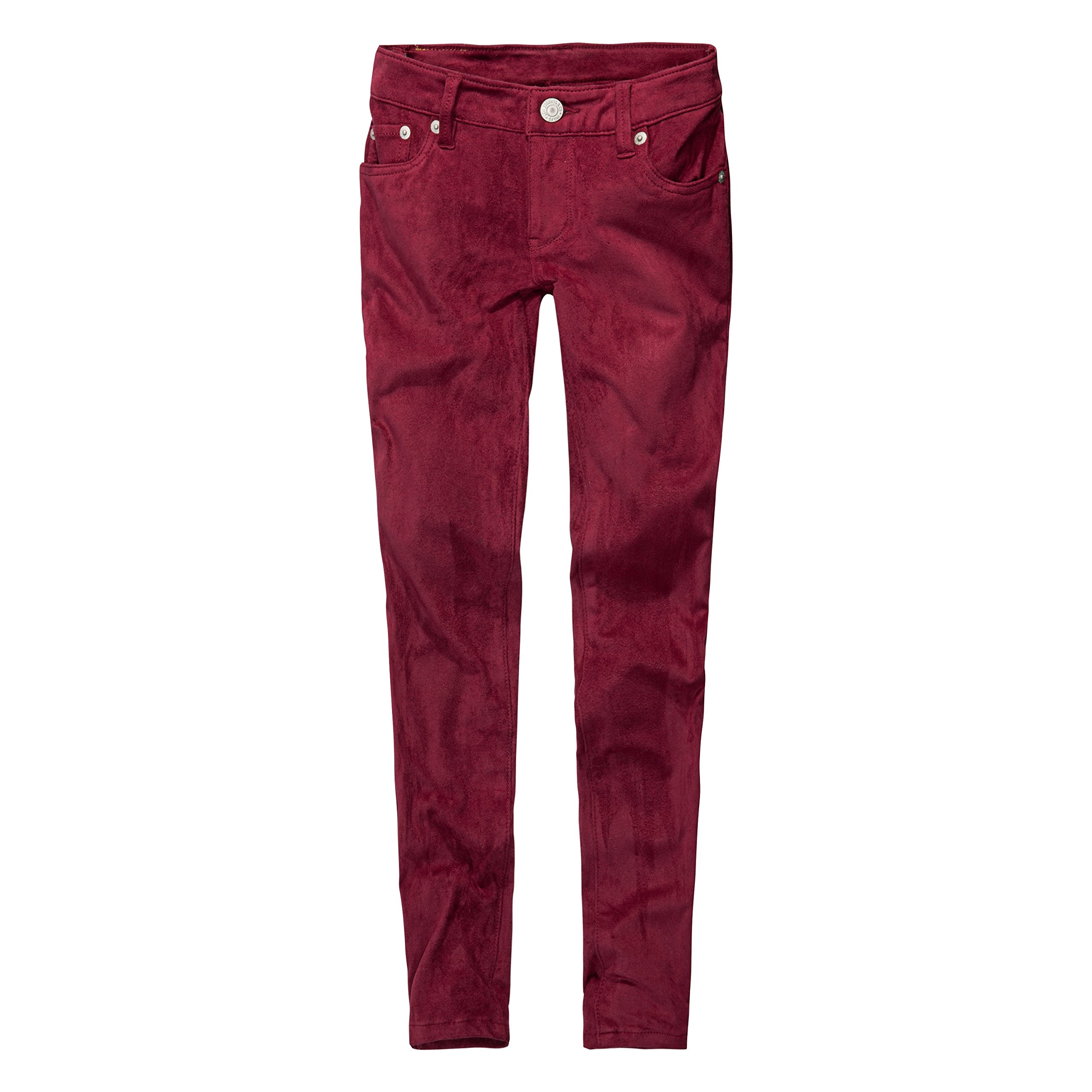 Levi's Big Girls' 710 Super Skinny Fit Faux Suede Jeans, Beet Red, 7