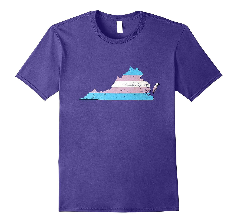 Virginia Transgender Pride Flag T-Shirt-CD