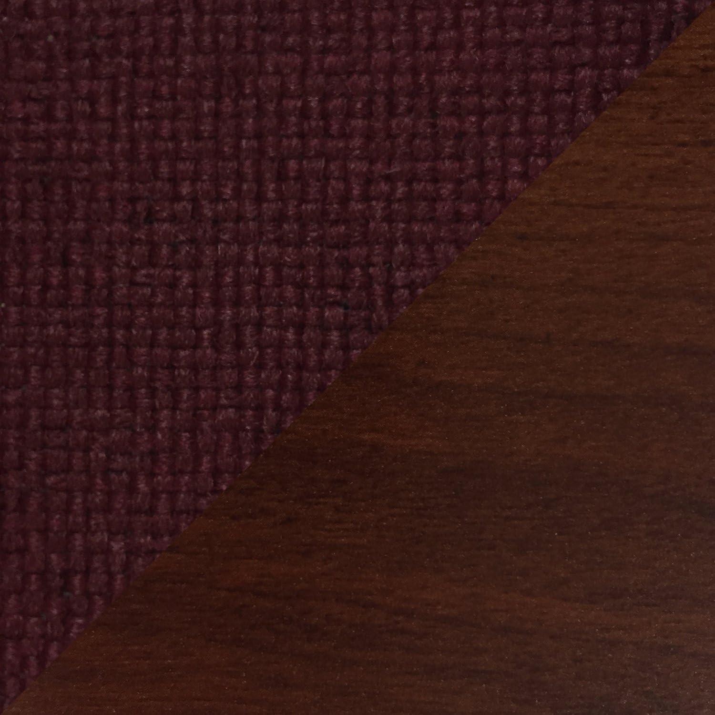 DMDロビーSeating、オフィスと待合室3 Seatベンチのゲストと患者、マホガニー木製with Cabernet Burgundy Upholstery