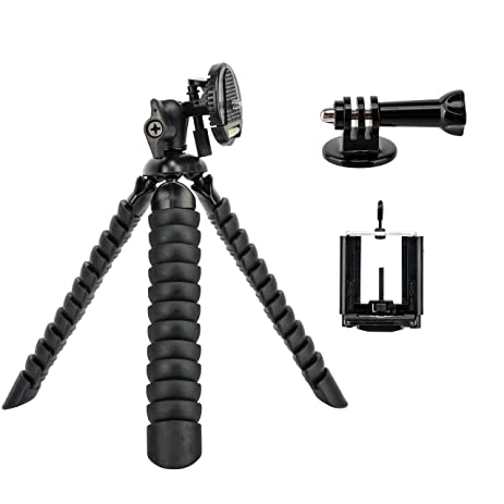 Tairoad 12 Inch Bendable Octopus Flexible Tripod With Free Smartphone And Gopro Mount Adapter