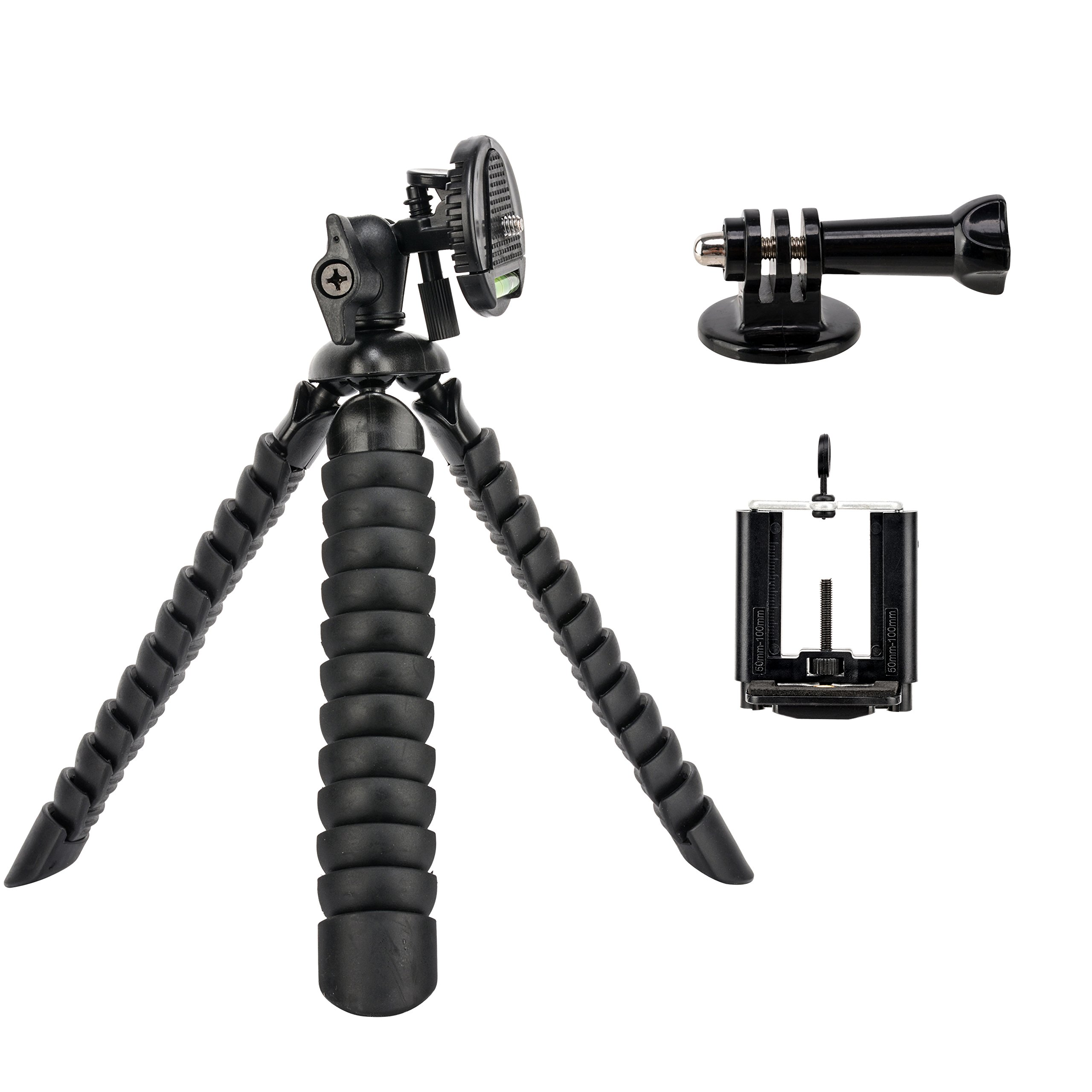 Tairoad Flexible Tripod Mini Desk Travel Tripod with Free Smartphone and Gopro Mount Adapter MG12