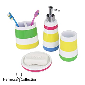 Hermosa Collection Four Piece Kids Bathroom Accessories Set Part 70