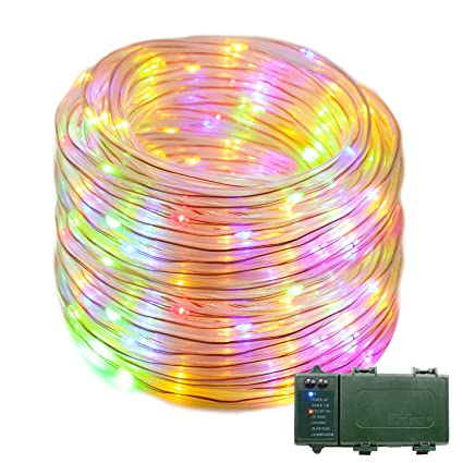 quality design fd435 f9b39 VMANOO Rope Lights 120 LED Battery Operated String Fairy Christmas Lighting  Decor Timer for Outdoor, Indoor, Garden, Patio, Lawn, Holiday, Bedroom ...