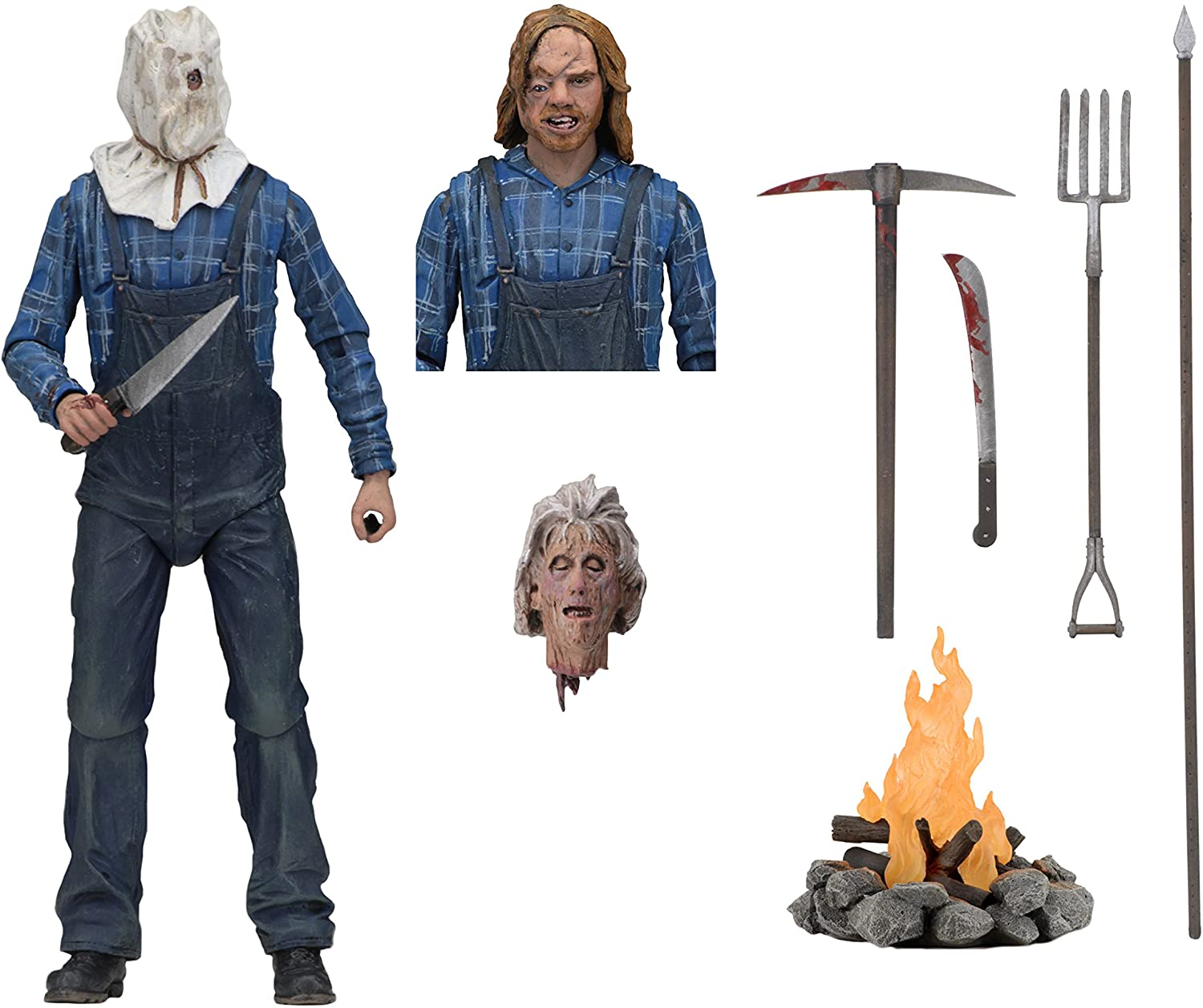 UK 7″ NECA Friday The 13th Part 2 Ultimate Jason Voorhees Action Figure Toy Gift