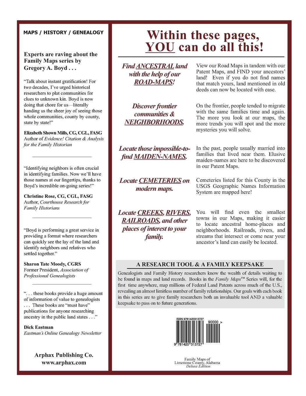 Alabama limestone county capshaw - Family Maps Of Limestone County Alabama Deluxe Edition Gregory A Boyd J D 9781420313727 Amazon Com Books