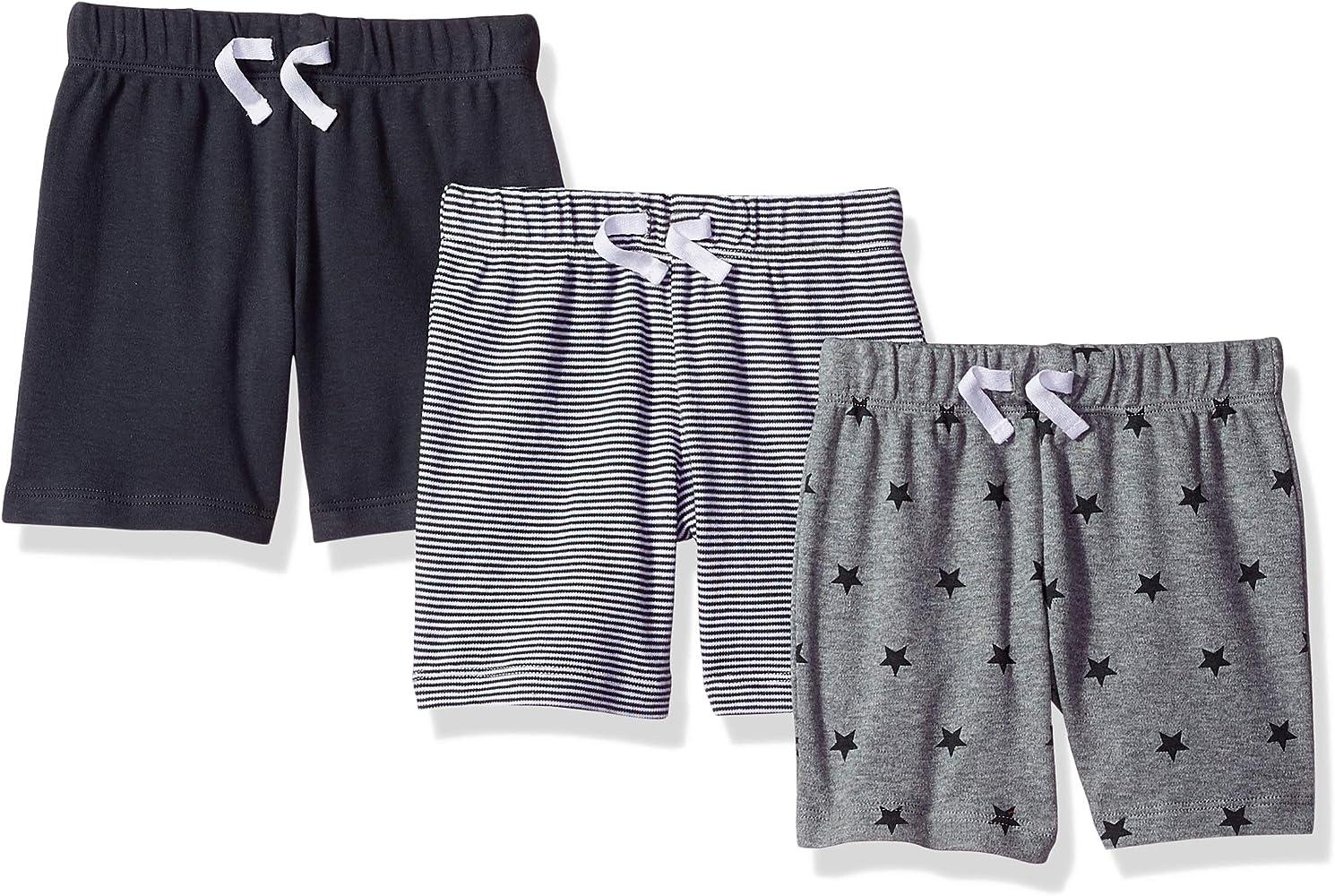 Amazon Essentials - Pack de 3 pantalones cortos con cintura elástica para niño: Amazon.es: Ropa y accesorios