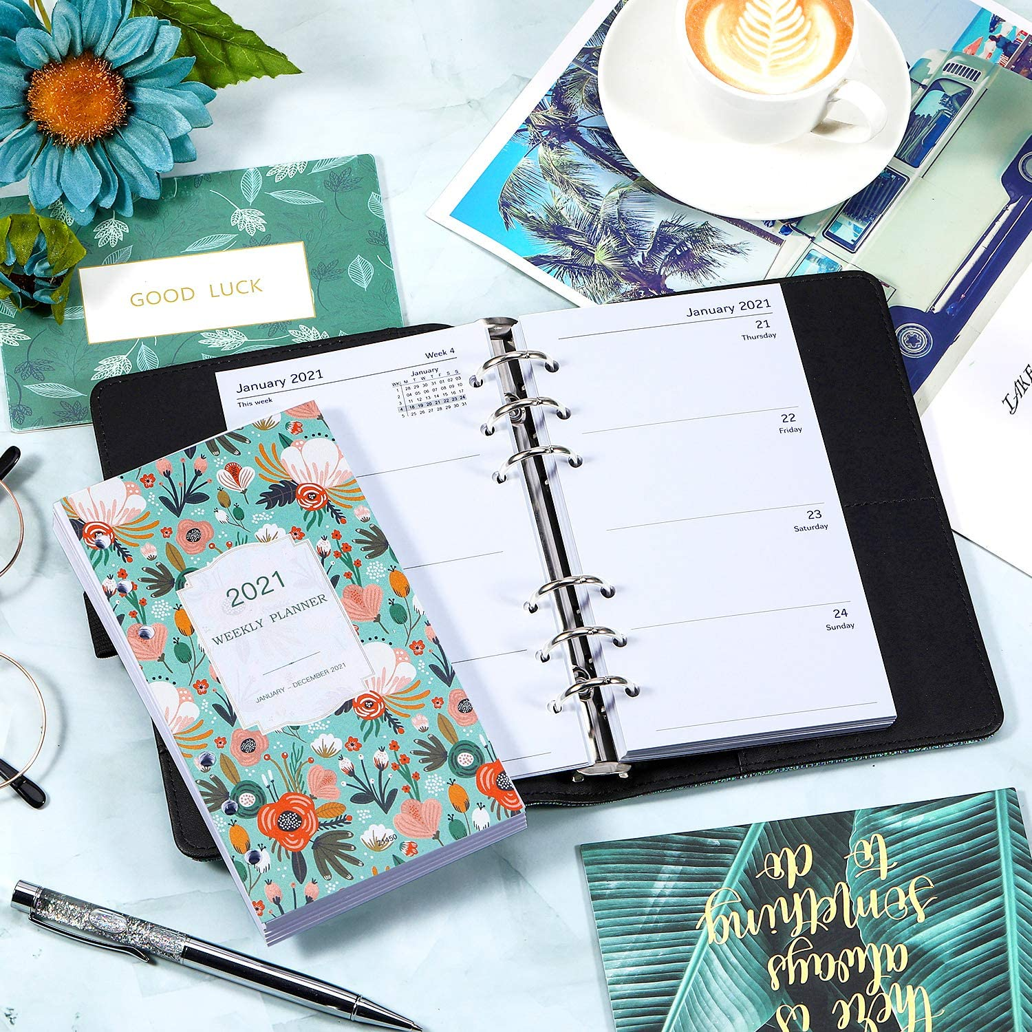 Dec 2021 Personal Diary Refills 2021 Week Jan 2021 2021 Weekly Diary Refill A6 Size 17.3 x 9.5 cm Monday Start 2021 Diary