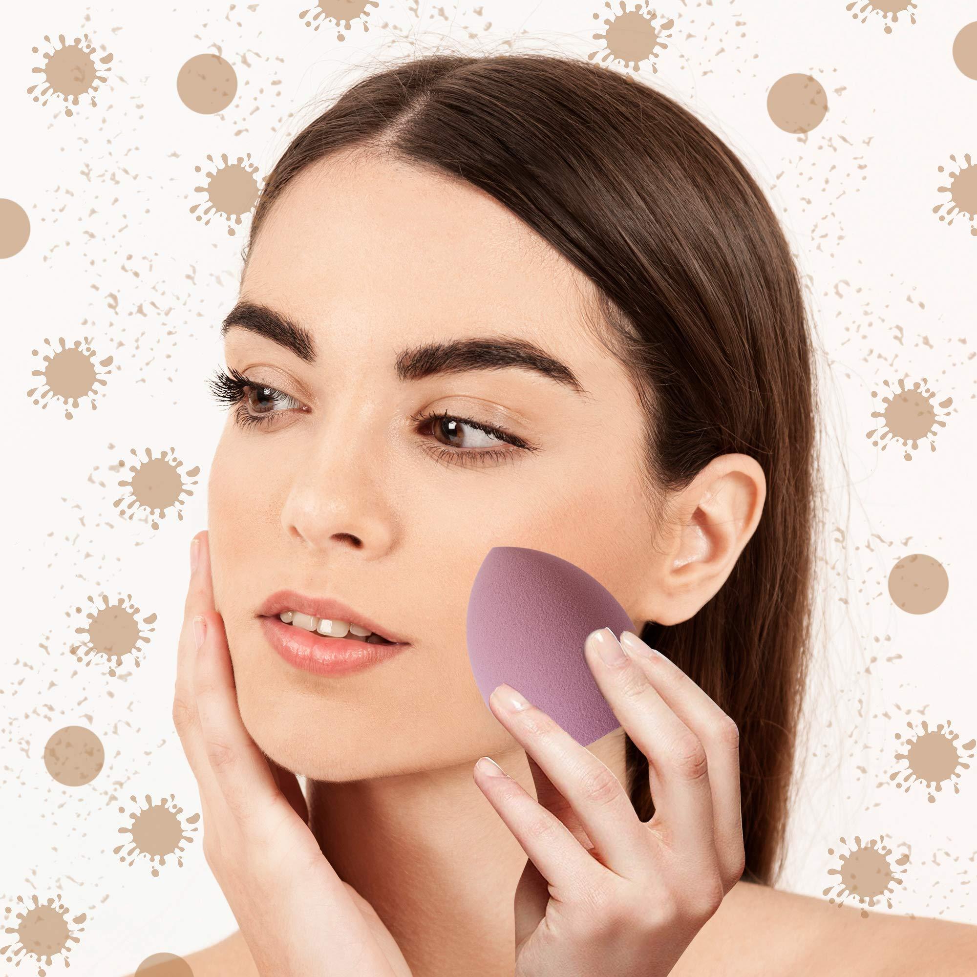 MIRROR Set spugne trucco con 6 diverse spugnette make up per fondotinta, creme, correttore e ogni tipo di trucco che necessita di stesura con blender beauty