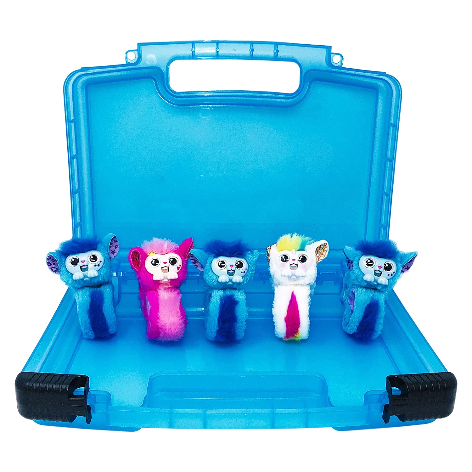 Life Made Better Carrying Case for Wristband Toys Compatible with Live Little Wrapples. This Box is Not Created by Live Little Wrapples Blue